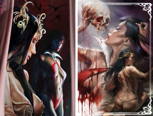 Vampirella / Dejah Thoris #1 Choi & Parrillo 250 Limited Virgin Cover Set