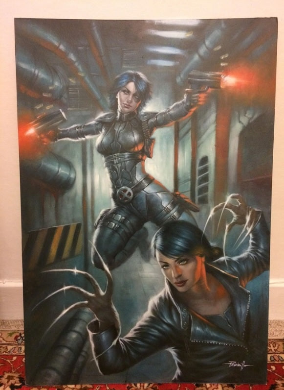 WEAPONS OF MUTANT DESTRUCTION #1 ORIGINAL COVER PAINTING BY LUCIO PARRILLO