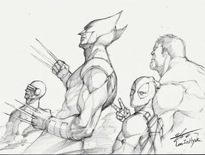 InHyuk Lee Marvel Super-Heroes Pencil Sketch