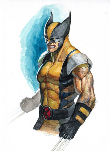InHyuk Lee Original Art Wolverine Watercolour