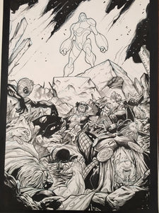 AVENGERS #16 PAGE 20 SPLASH PAGE (STEFANO CASELLI ART)