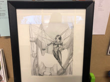 Mike Choi Wasp Original Art - Pencil 10.5 x 13.5 inch framed