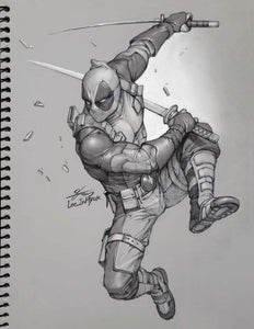 InHyuk Lee Deadpool Pencil Sketch