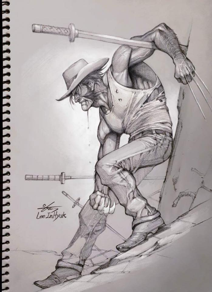 InHyuk Lee Wolverine Pencil Sketch