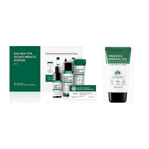 SOME BY MI Miracle kit Plus Truecica Mineral 100 Calming Suncream Set