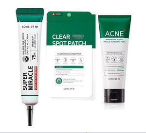Some By mi Acne Clear set - Acne clear foam, Clear Spot Patch, Spot All Kill Cream