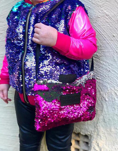 SEQUIN BOMBER