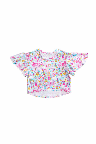 GIRL POWER FLUTTER TOP