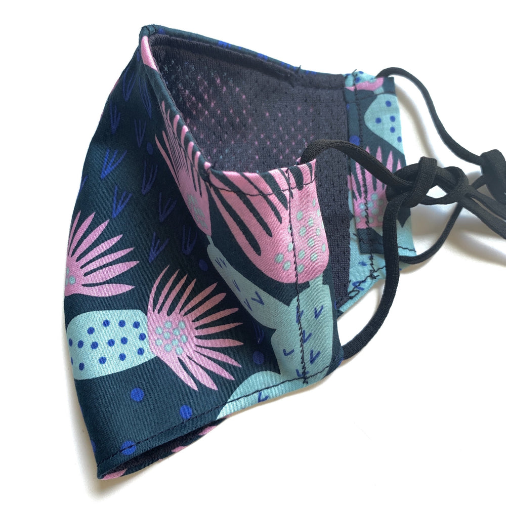 Furoshiki mesh lining face mask (Arizona Midnight)