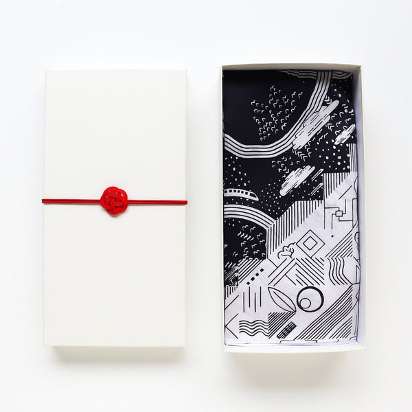 Furoshiki Gift Box (Card) White