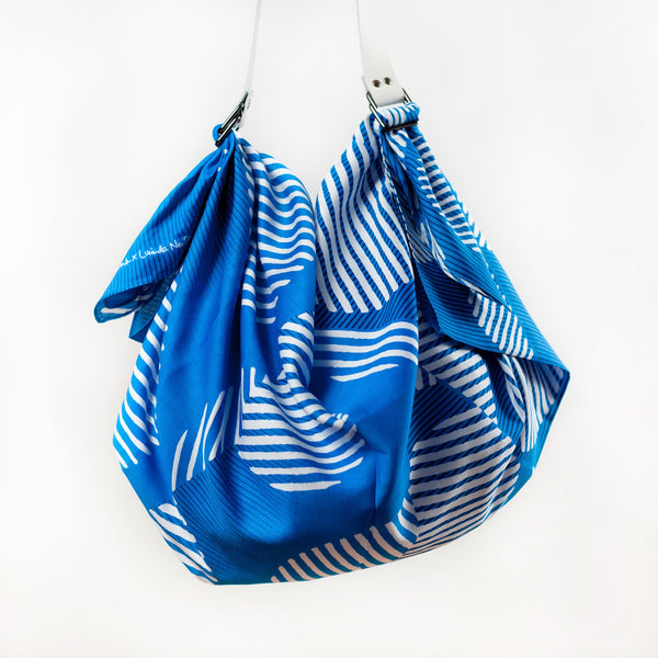 """Dots"" furoshiki (blue) bag set"