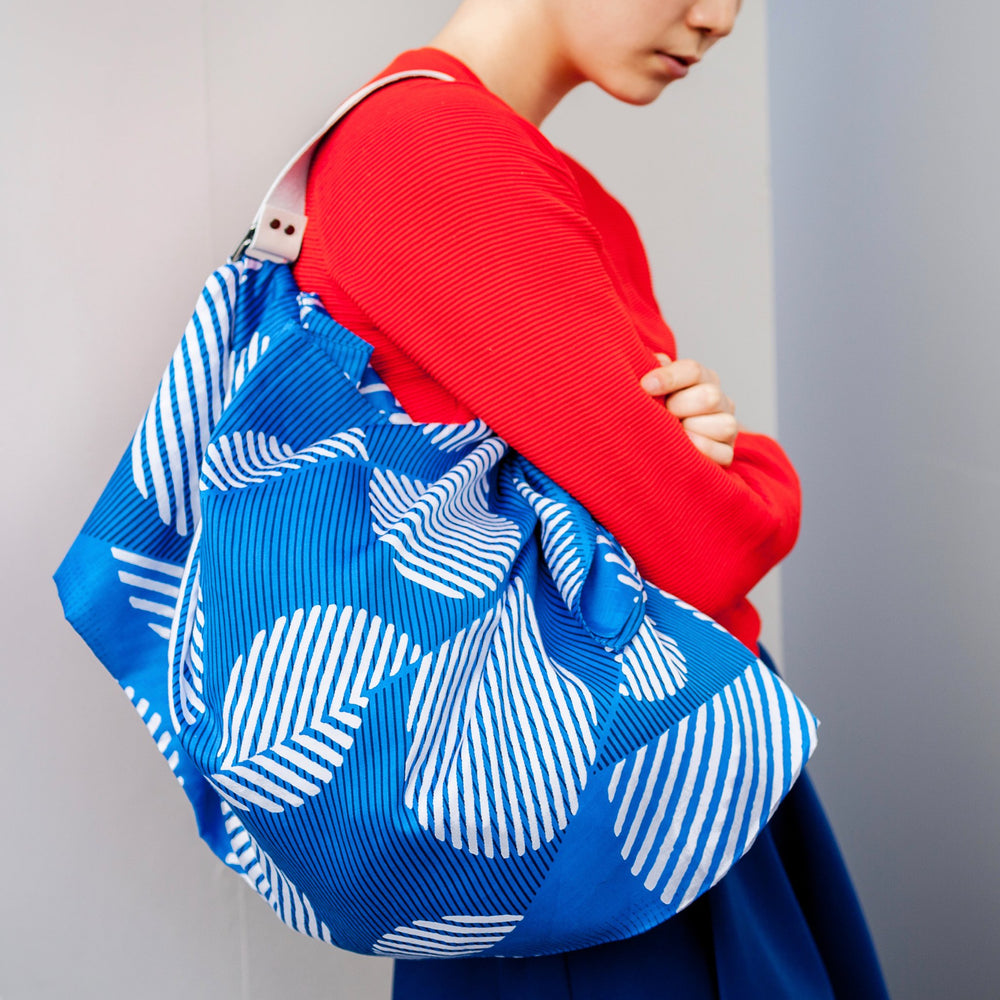 """Dots"" furoshiki (blue) bag"