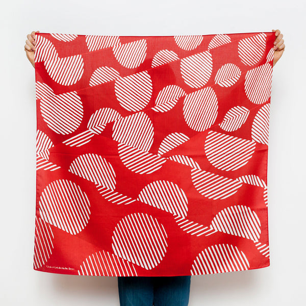 """Dots"" furoshiki textile in red and cream"
