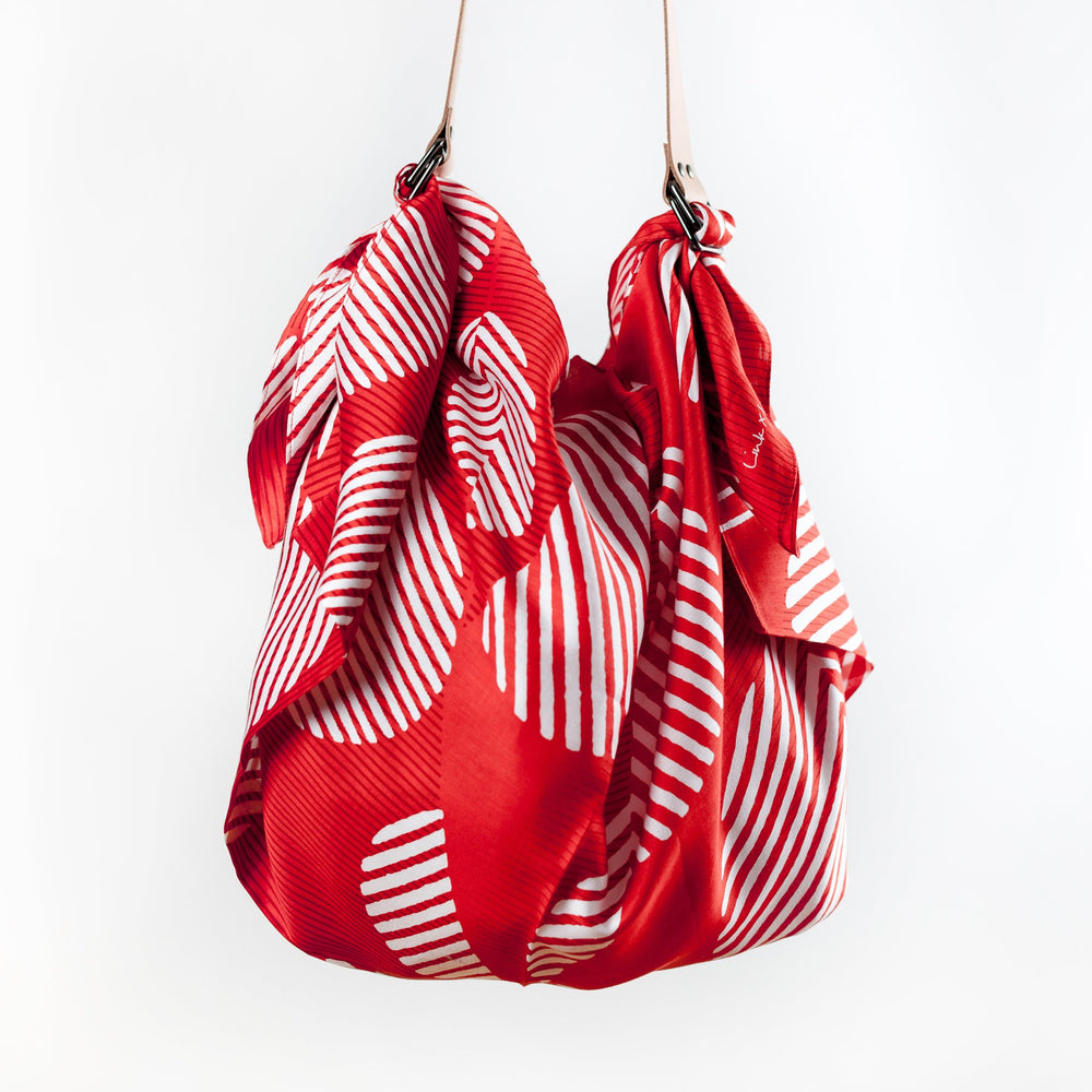 """Dots"" furoshiki (red) bag set"