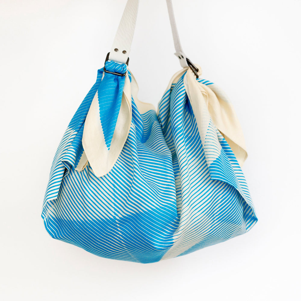 """Folded Paper"" furoshiki (blue) bag set"