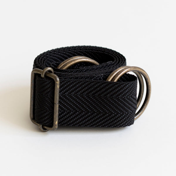 Black nylon furoshiki carry strap
