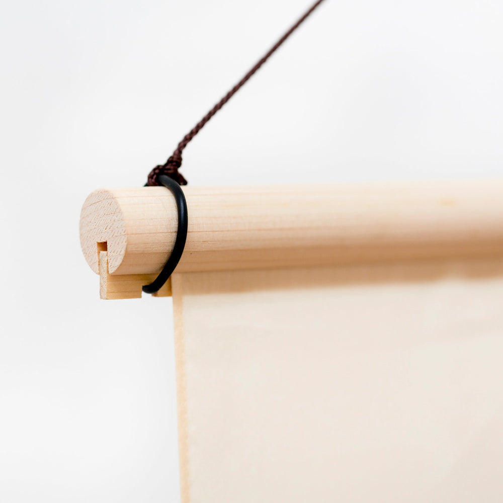 Wood furoshiki hanging pole in hinoki (cypress) wood