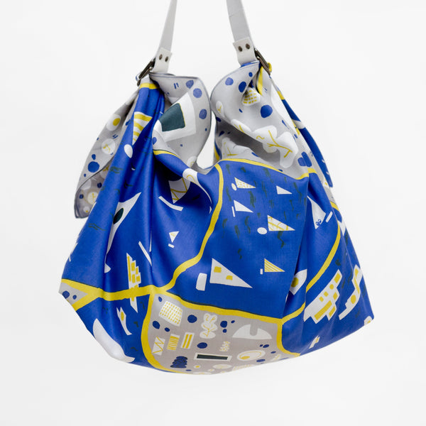 """Stockholm"" furoshiki (blue) bag set"