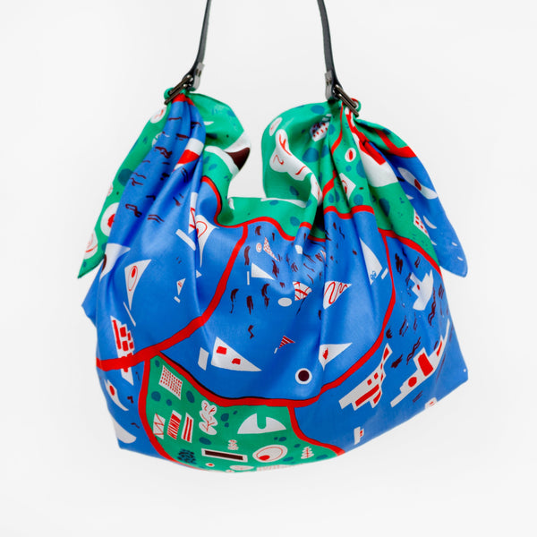"""Stockholm"" furoshiki (green) bag set"