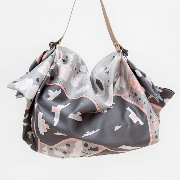 """Stockholm"" furoshiki (gray) bag set"