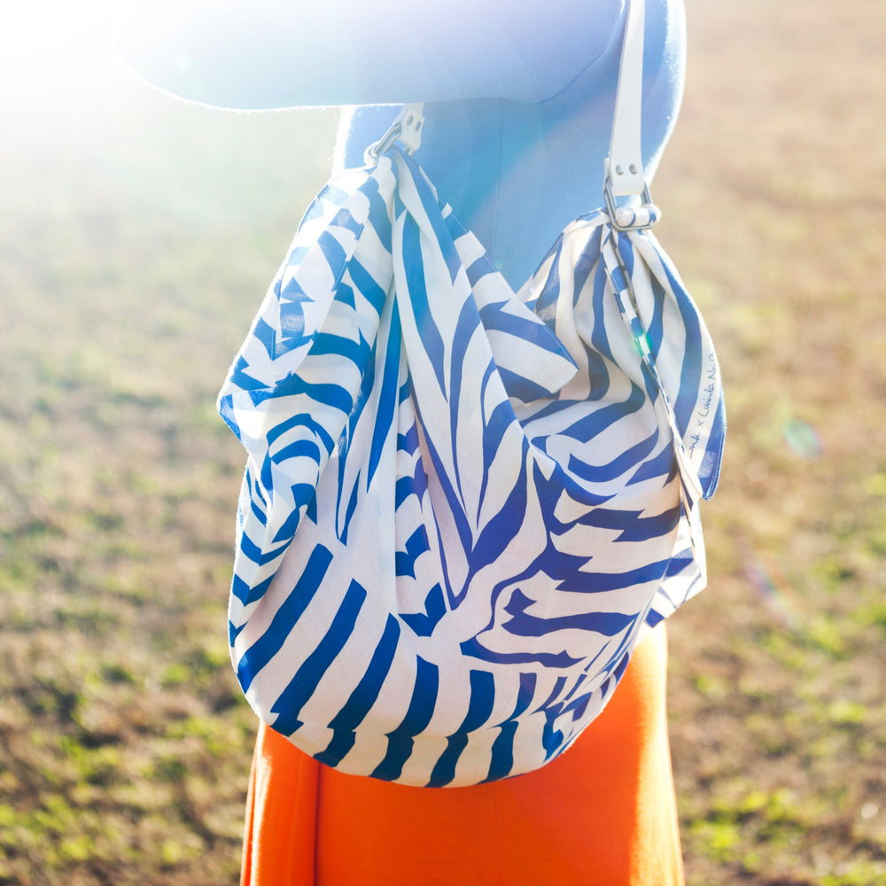 """Stripe"" furoshiki (blue) bag"