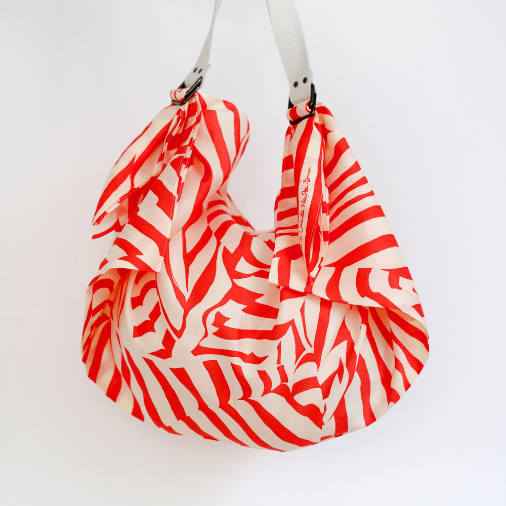 """Stripe"" furoshiki (red) bag set"
