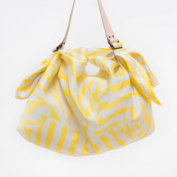 """Stripe"" furoshiki (yellow) bag set"