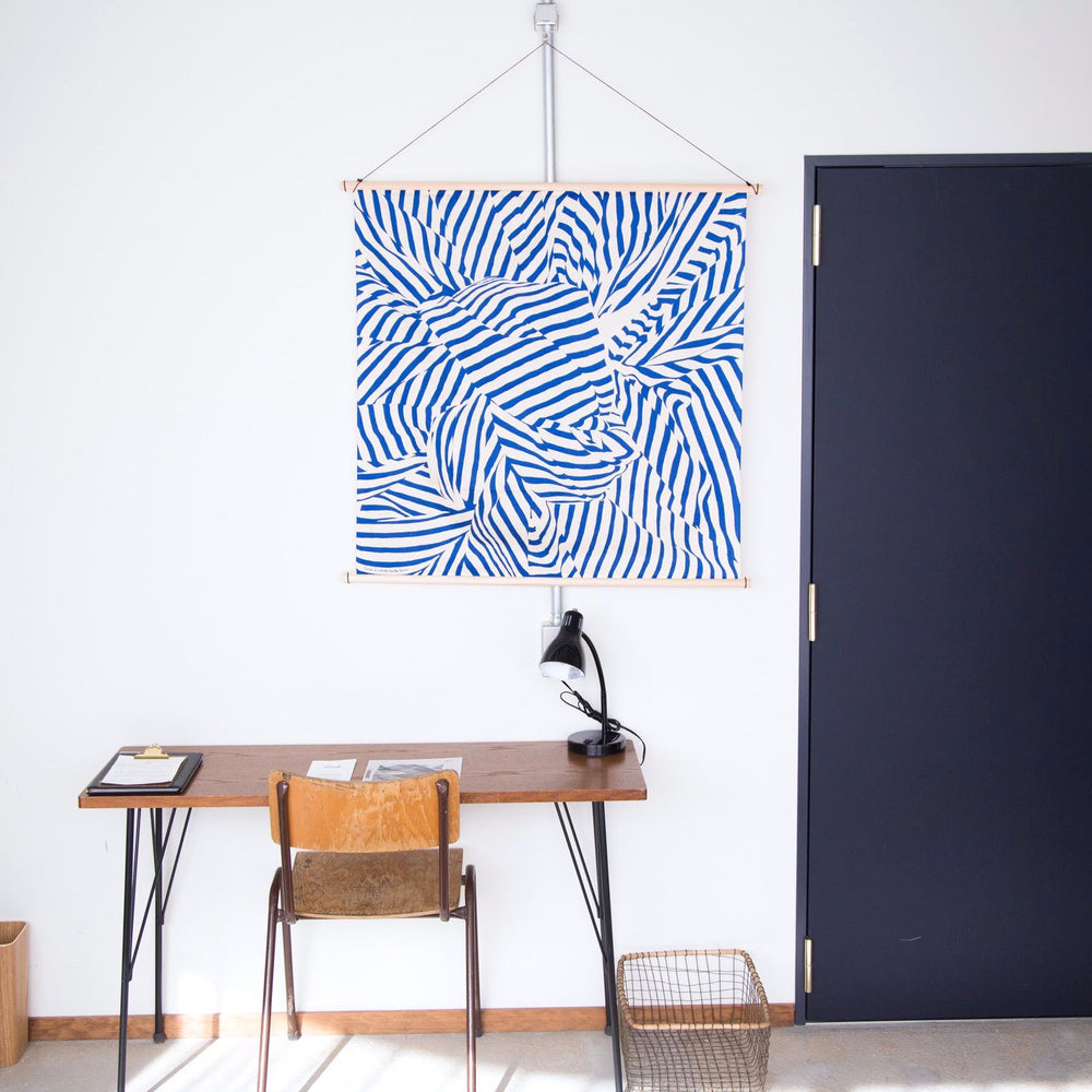 Wood furoshiki hanger in Citan hostel, Kyoto Japan