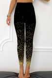 Asana's Black Printed legging with fireflies
