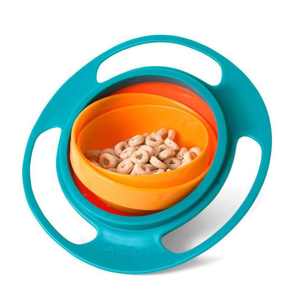 Spill Resistant 360 Gyro Bowl With Lid