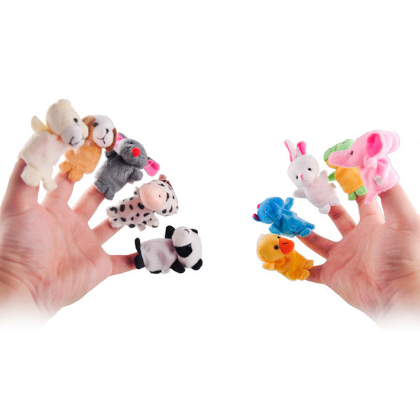 10 pcs Animal Finger Puppets