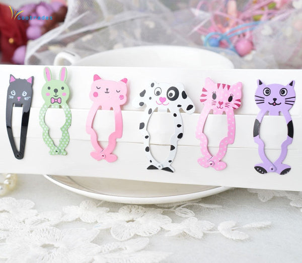 6pcs Cartoon Hair Clips