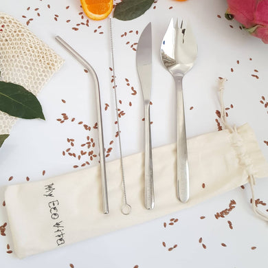 Reusable Cutlery Set &  Straw