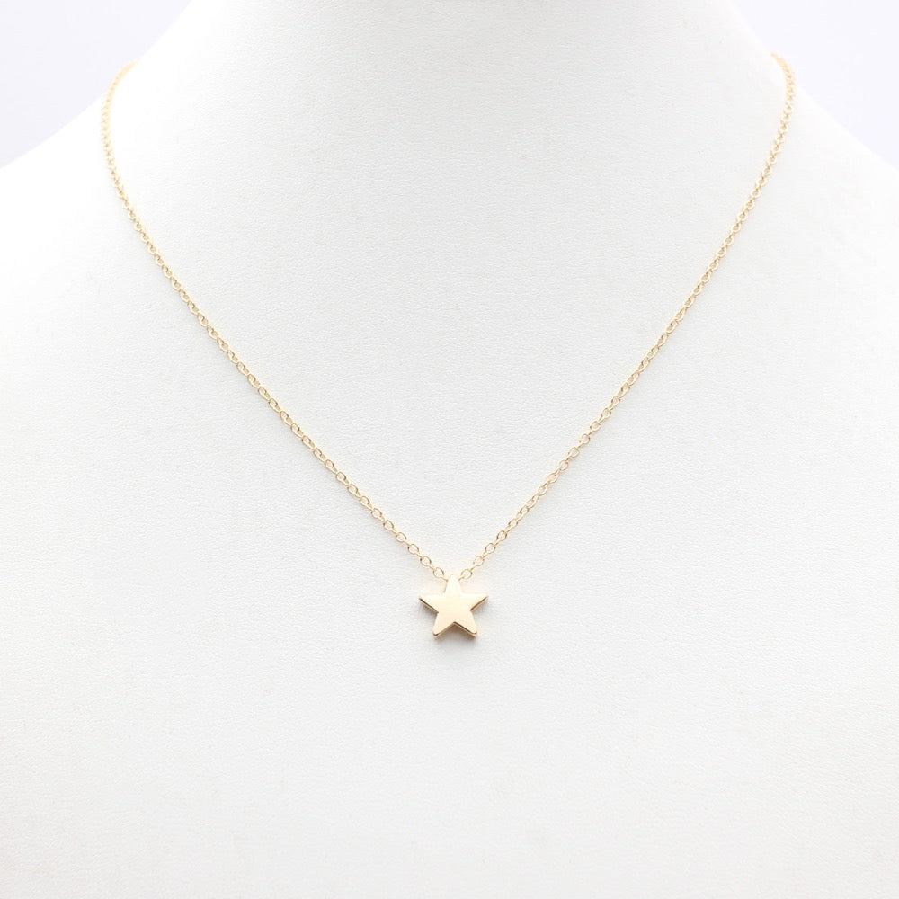 Mini star pendant necklace simply perfect jewelry mini star pendant necklace aloadofball Choice Image