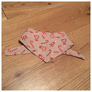 Candy Canes and Hearts Bandana
