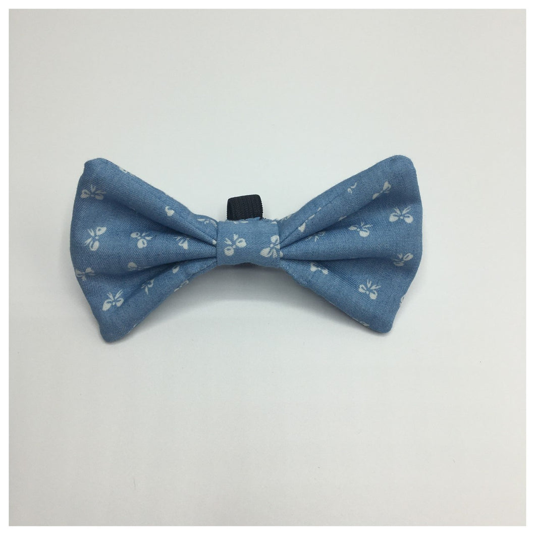 Blue Bows Bow Tie - Available in 2 sizes
