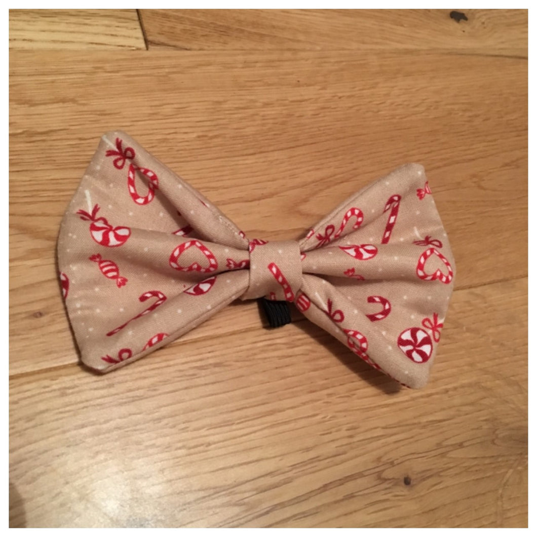 Candy Canes and Heart Bowtie