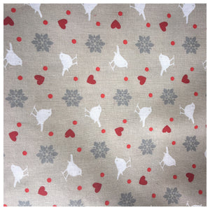 Bird, Heart & Flowers Tie Bandana - Various Colours