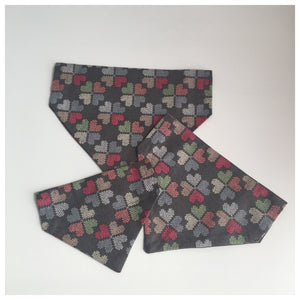 Grey Patchwork Heart Bandana