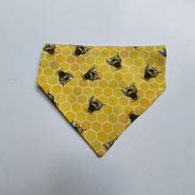 Bee Hive Thread-on-Collar Bandana - choice of colours