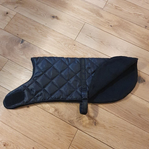 Black Dog Coat - Choice of fleece lining