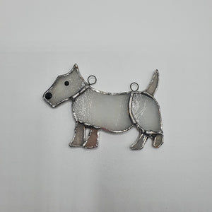 Westie Stained Glass Sun-catcher