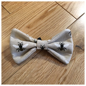 Manchester Bee Linen Bow Tie