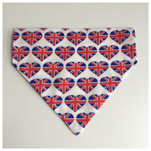 Heart Union Jack Thread on the Collar Bandana