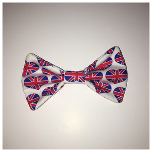 Heart Union Jack Bow Tie