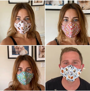 Pet-Human Adult Face Masks - Buy 4 and get 1 of them FREE