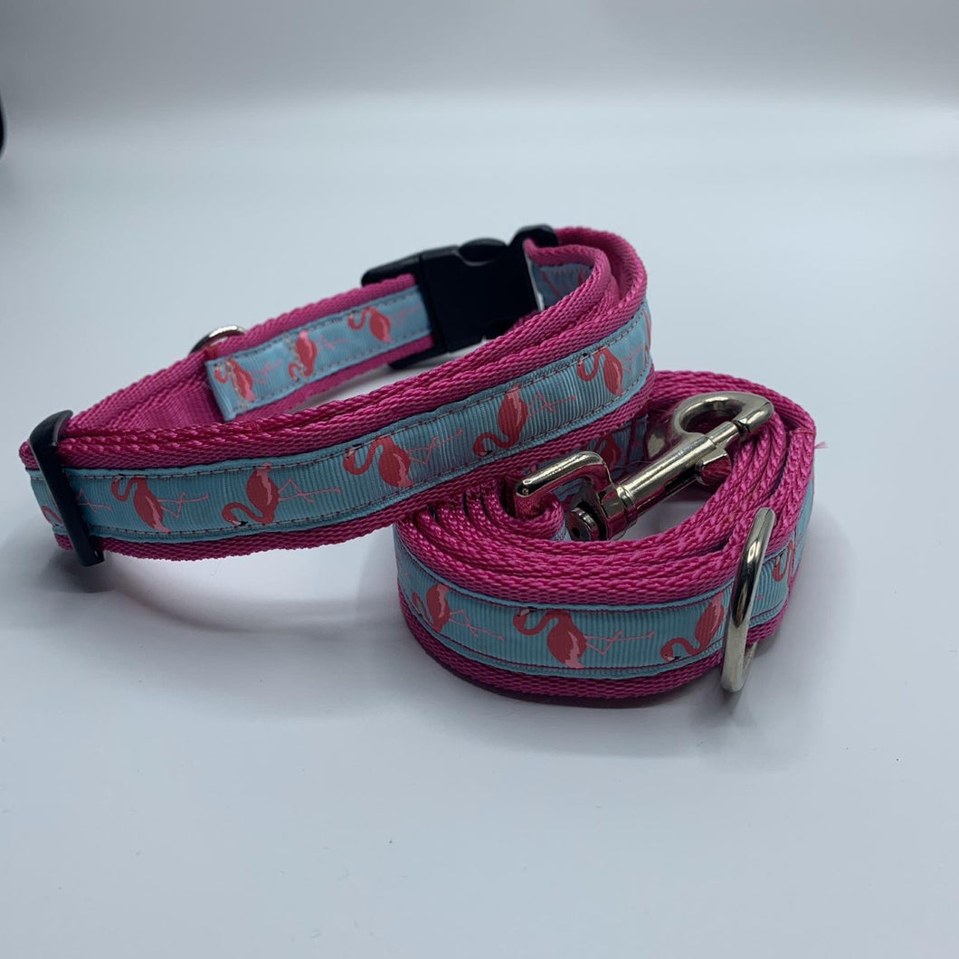 Harold Flamingo Collar & Lead Set **OFFER** Choice of Colours Available