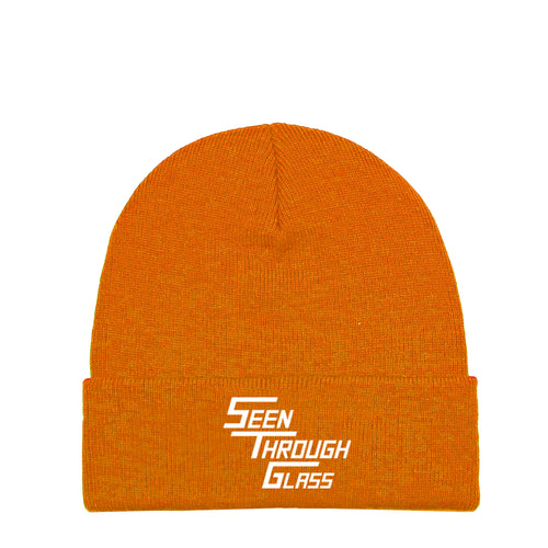 Seen Through Glass Beanie - Orange