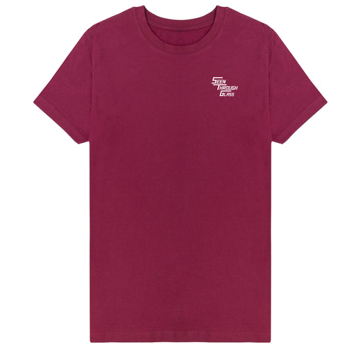 Seen Through Glass T-Shirt - Maroon