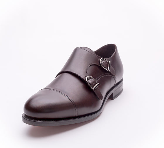 Italian hand made Double buckles Monk Strap